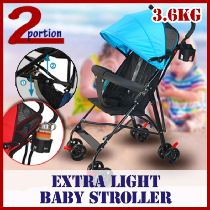 Lightweight Foldable Baby Stroller - Basic - Red Singapore