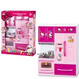 Compare Price Little G*rl Birthday Gift Home Toy Simulation Kitchen Toy Set With Light Music Kt Kitchen Had A Family Suite Of Toys Intl On China