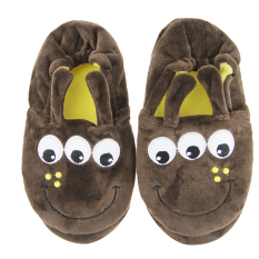 The Cheapest Little Kids Boys Cute Cartoon Animal Warm Plush Home Booties Soft Cozy Fuzzy Indoor Slippers Non Slip Fleece Shoes Ankle Boots With Thermal Back Cover Size 10 11 Coffee Intl Online