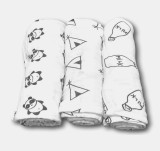 Cheap Littlejump 3 Pack Baby Swaddle Blanket 100 Organic Cotton 47 Inch X 47 Inch Large Softest Muslin Swaddles Panda Teepee Bottle Print For Unisex Boys Or Girls Intl Online