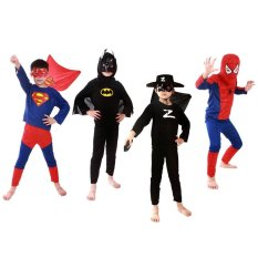 (L)Kids Superhero Costume Costumes Set Cloths Boys Birthday Party Children Super Hero Cape Intl On Line