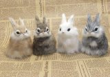 Lovely Cute Simulation Artificial Fake But Looks Like Real Rabbit Bunny Wardrobe Ornament Animal Model Home Decoration And Gift For Friends Intl Sale