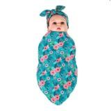 Discount Lovely Style Newborn Baby Swaddle Blanket Bunny Ears Headband Set Intl