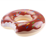 Promo Lovesport Donut Swimming Swim Float Ring Inflatable Pool Toy 90Cm Chocolate