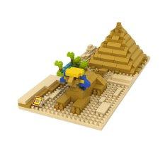 Promo Loz 9376 Sphinx Pyramid Nanoblock