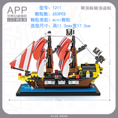 Price Loz Small Particles Pike Assembled Model Building Blocks Pirateship Loz
