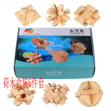Lu Ban Wooden Piece Suit Unlocked Nine Serial Burr Puzzle Oem Discount