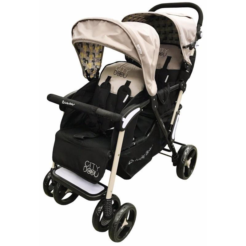 Lucky Baby® 516478 & 516461 City Duo Twin Baby Stroller Singapore