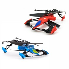 Lumiparty Children Airphibian Drone Wireless Dual Channels Aircraft Remote Control Helicopter Toys For Kids Style Red Blue Random Intl Price Comparison