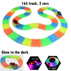 Where To Shop For Ma Gic Tracks Glo W In The Dark Assembly Toy 165 Pcs Tracks 2 Pcs Led Cars Intl