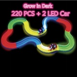 Who Sells Magic Tracks Bend Flex Glow In The Dark Assembly Toy 220 Pcs Magic Tracks 2 Pc Led Race Car For Kids Boys Intl