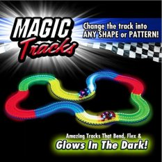 Compare Price Magic Tracks With 1 Race Car As Seen On Tv 165 Piece Glowing Track Set 165 Piece Intl Oem On China