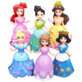 Compare Prices For Magicworldmall Funny Toys Plastic 6Pcs Changeable Princess Dress Snow White Pvc Dolls Clothes Set Intl