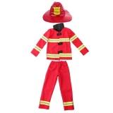 Magideal Kids Firefighter Suit Halloween Party Fireman Hat Costume Uniform Gift M Intl Best Buy