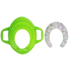 Magideal Soft Potty Training Potty Seat With Handles+cover+splash Guard Green - Intl By Magideal.