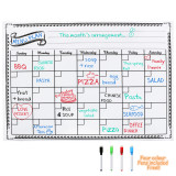 Discount Magnetic Whiteboard Calender For Fridge Dry Erase Board Monthly Plan 16 11 75 Inches No Brand