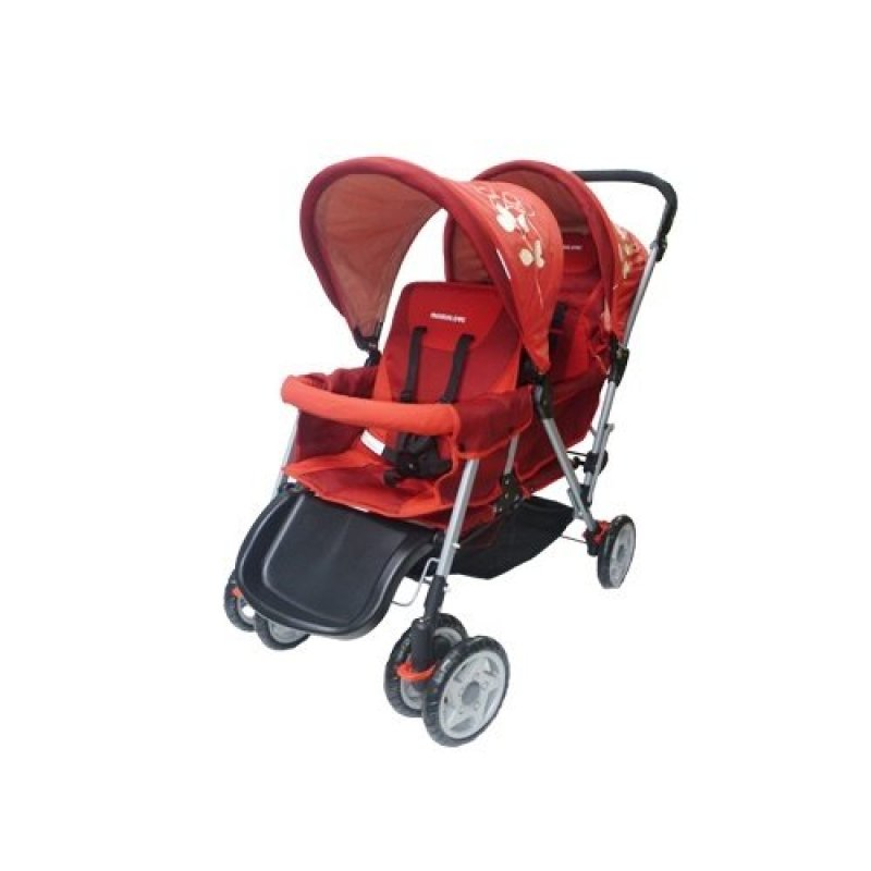 Mamalove Twin Stroller (Red) Singapore