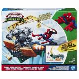 Marvel Spider Man Rhino Rampage Play Set Free Shipping