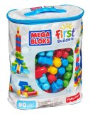 Best Deal Mega Bloks First Builders Big Building Bag 80 Piece Classic