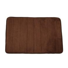 Memory Foam Bath Mats Bathroom Horizontal Stripes Rug Non-Slip Brown By Sportschannel.
