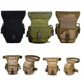 Discount Men Tactical Waist Pack Thigh Drop Leg Bag Nylon Hiking Riding Travel Outdoor Black Intl Oem China