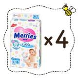 Merries Tape Diapers 4 Packs 58 Pieces Pack Size L Japan Version Deal