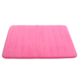 New Microfibre Memory Foam Bathroom Shower Bath Mat With Non Slip Back Rose Red Machine Washable New Intl