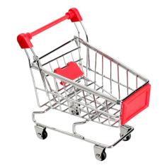 Mini Supermarket Handcart Mode Storage Toy Red By Amart.