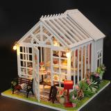 Price Compare Miniature Diy Wooden Toy House With Led Light Assembled Dollhouse Children S Toy Christmas Birthday Gift Color M028