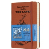 Moleskine 2018 Alice S Adventures In Wonderland Limited Edition Daily Planner Notebook 12M Pocket Brown Hard Cover 9 X 14 Cm Intl Coupon Code