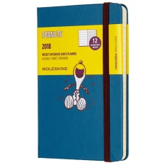 Best Moleskine 2018 Peanuts Limited Edition Weekly Planner Notebook 12M Pocket Blue Hard Cover 9 X 14 Cm Intl
