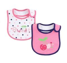 67b52f357ac2 Mom And Bab Baby Bibs 2pk - Sweet Cherry