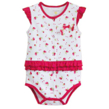 Low Price Mom And Bab G*rl S Flutter Sleeve Bodysuit Cherries