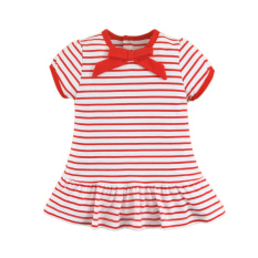 Buy Mom And Bab Navigation Collection G*rl S Striped Pleated Dress On Singapore