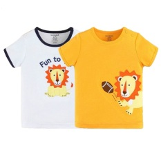 7ea6adc6def8 Mom And Bab Short Sleeve Top 2pk - Fun Lion
