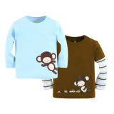 Buy Mom And Bab Top 2Pk Monkey Singapore