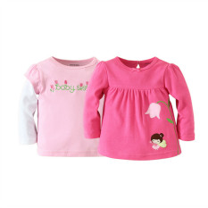 Sale Mom And Bab Top 2Pk Pink Tulip Angel