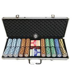 Monte Carlo Gold Edition 500S Poker Chip Set With Premium Pokerstars Pvc Decks Reviews