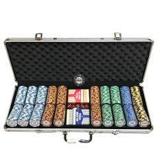 Discount Monte Carlo Gold Edition 500S Poker Chip Set With Premium Texas Holdem Pvc Decks Oem On Singapore