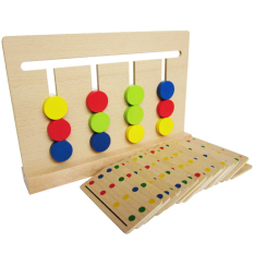 Cheapest Montessori S Four Color Game Fun Slide Game Rack Toys