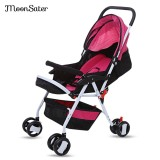 New Moonsater 1602 Foldable Pram Portable Baby Stroller With Universal Casters Intl
