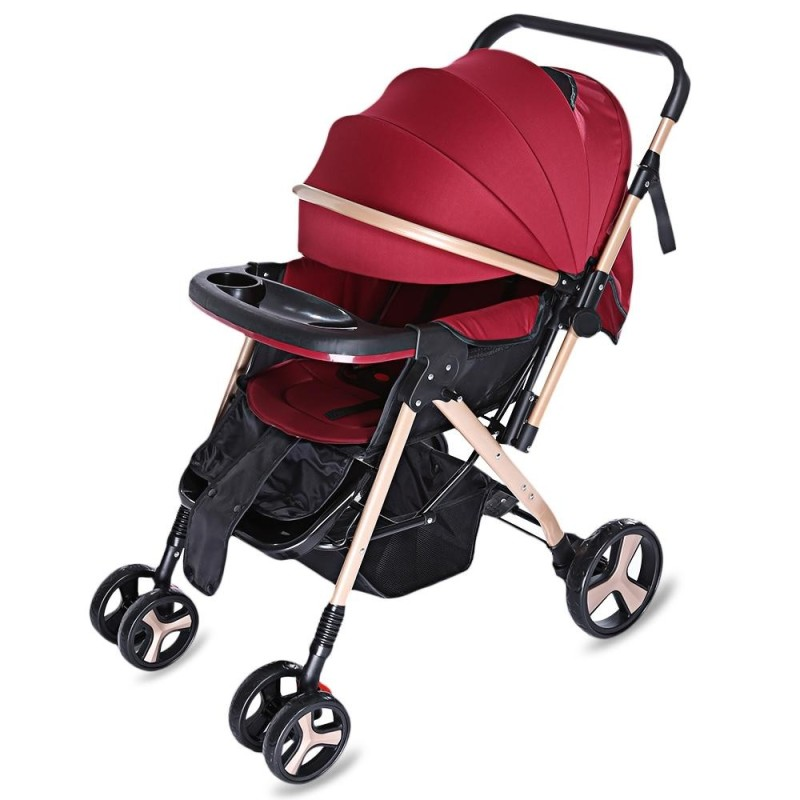 MoonSater YA - 2305 Universal Casters Foldable Baby Stroller - intl Singapore