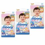 Moony Airfit Tape Diapers Size L 54Pcs Pack X 3 Packs Lowest Price