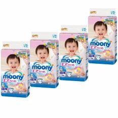 Lowest Price Moony Airfit Tape Diapers Size L 54Pcs Pack X 4 Packs