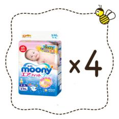 Great Deal Moony Tape Diapers 4 Packs 90 Pieces Pack Size S Japan Version