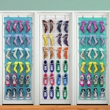 Best Multi Function 24 Pocket Over Door Hanging Holder Shoe Organiser Storage Rack Wall Closet Bag Hanging Intl
