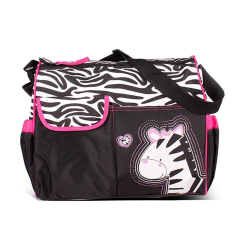 Price Multi Functional Cartoon Big Capacity Mummy Package Baby Diaper Nappy Changing Storage Bag Pink Zebra Vococal