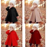 Who Sells Multi Legend Newest Button Jaket Warm Coat Outwear Cloak Winter Baby Girls Autumn And Winter Khaki 6 12M Intl Cheap