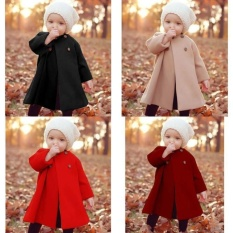 Low Cost Multi Legend Newest Button Jaket Warm Coat Outwear Cloak Winter Baby Girls Autumn And Winter Khaki 6 12M Intl