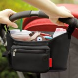 Haotom Multifunctional Waterproof Baby Stroller Bag Organizer Baby Car Hanging Basket Storage Stroller Accessories Black Free Shipping
